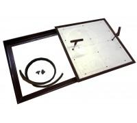 Напольный люк под плитку со съемной створкой 30х30 см тип Плита